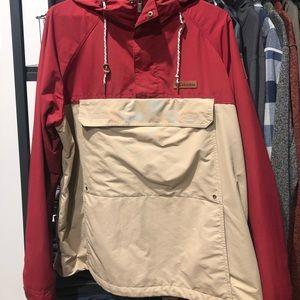 Columbia 1/2 zip rain coat w/front pocket